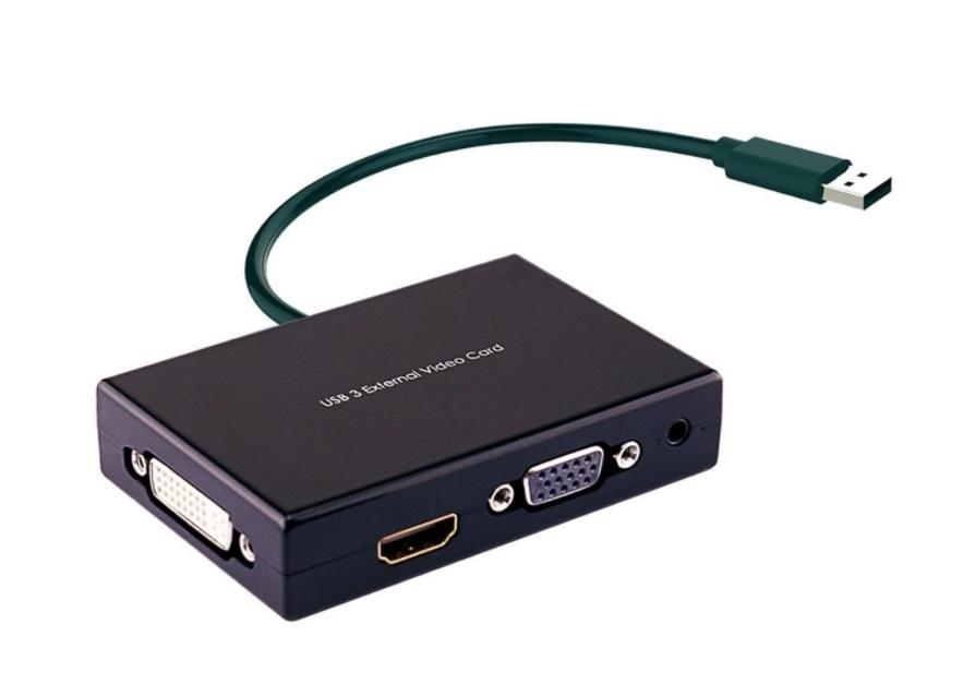Une carte graphique externe USB avoir un bureau virtuel sur 1